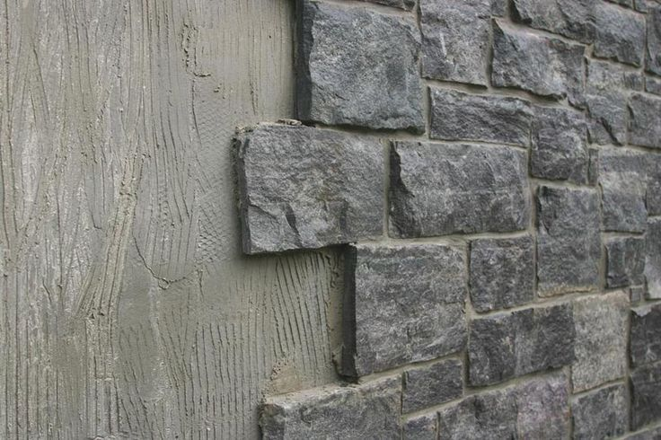 Great way to cover cinder block walls and dress them up for Block wall foundation