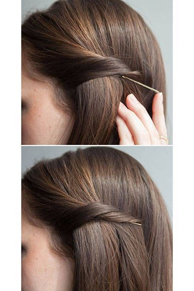 20 New Ways to Use Bobby Pins - I saw someone the other day had three of these going down the one side of her head #bobbypins