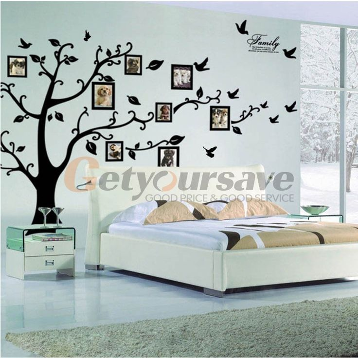 """99""""x79"""" inch Family Picture Home Decor Tree Photo Frame home Room Decal Wall Art Sticker Extra Large"""