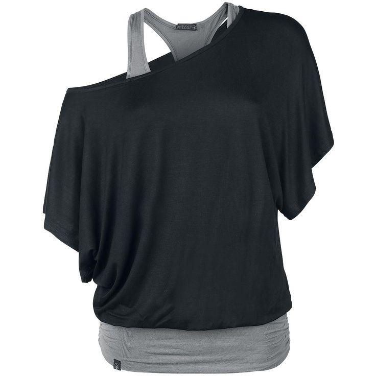 Black Premium by EMP  T-Shirt  »Bat Double Layer« | Jetzt bei EMP kaufen | Mehr Casual Wear  T-Shirts  online verfügbar ✓ Unschlagbar günstig!