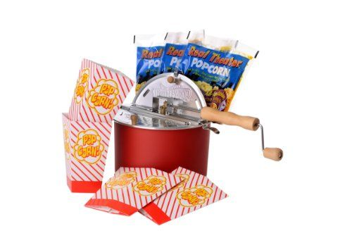 The Original Whirley Pop Stovetop Popcorn Popper Theater Style Popcorn Set ** Learn more by visiting the image link.(It is Amazon affiliate link) #s4s