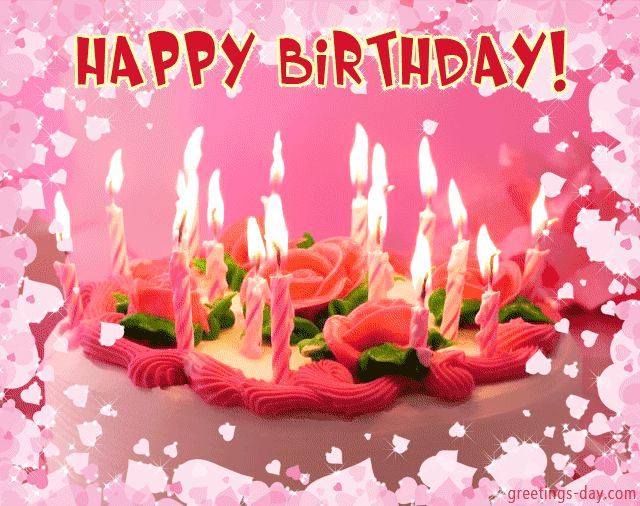 Image on Daily Ecards, Pictures & Animated GIFs. Greetings for every day.  http://greetings-day.com/wp-content/uploads/2015/09/birthday_cake.gif
