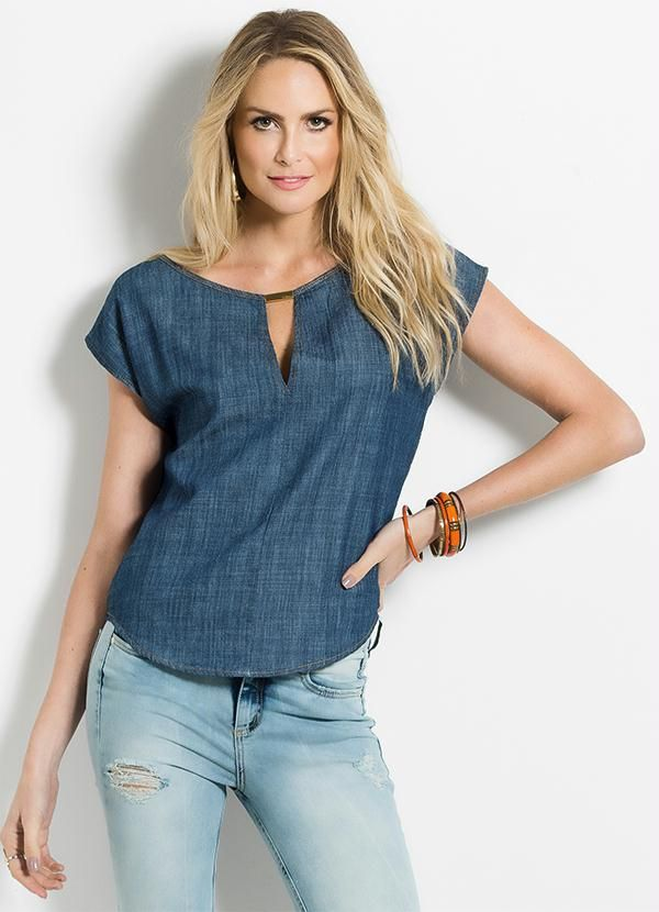 9b3675369 Blusa Jeans Colcci - Compre em até 5X sem juros na loja Colcci, veja nossas  condições para Frete Grátis.