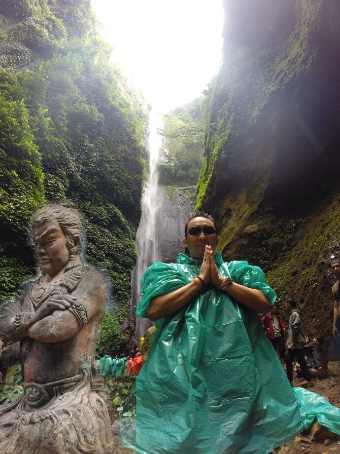 "Madakaripura falls, places where Gajah Mada meditate and found his renowned ""Sumpah Palapa"""