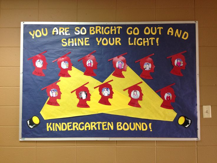 Preschool graduation bulletin board