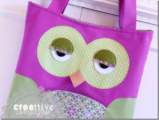 creattive compagnie - borsa gufo - owl bag