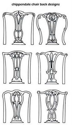 Here are some chair backs in the Chippendale style: