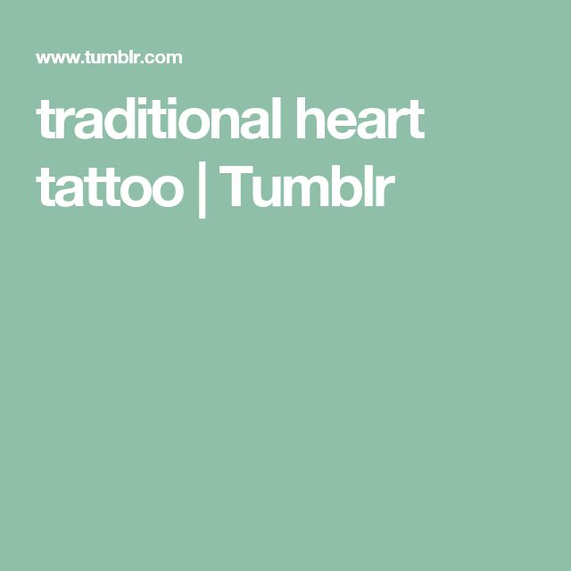 traditional heart tattoo   Tumblr