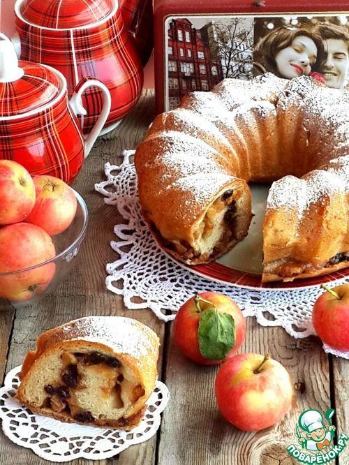 """Яблочный рулет """"Семейное счастье"""" - кулинарный рецепт"""