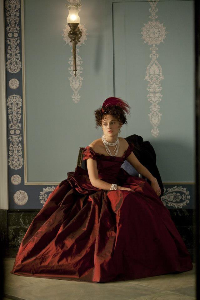 Keira Knightley posing while in a 'Anna Karenina' fitting.
