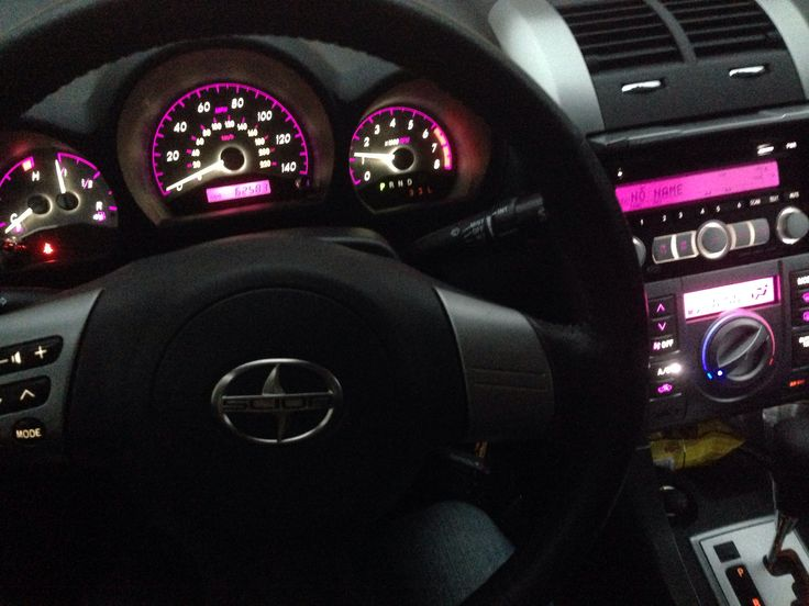 Purple LED mod in my 2008 Scion tC  Dreeam car!  Pinterest