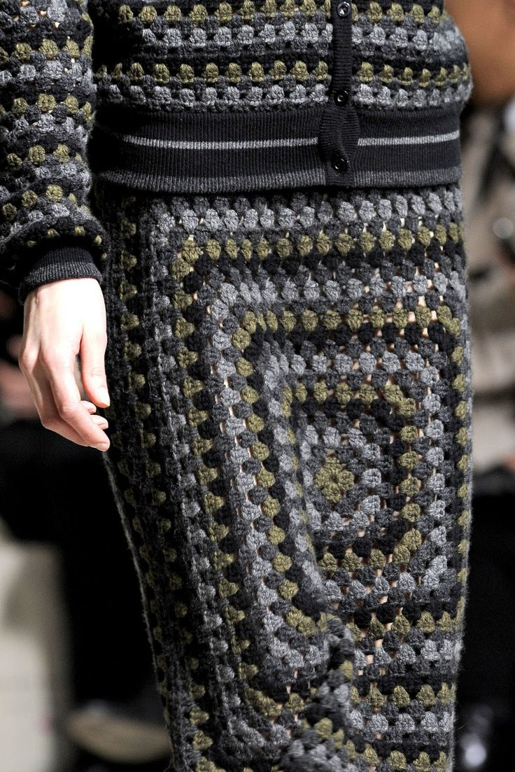 Outstanding Crochet: Christopher Kane FW 2011-12. Granny squares again, in leather.