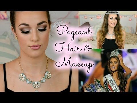 Beauty Pageant Hair & Makeup Tutorial, Miss USA inspired | Ellie Dalton - YouTube
