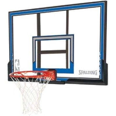 Backboard Systems 21196: Spalding Wall Mount Basketball Hoop With 50 Polycarbonate Backboard BUY IT NOW ONLY: $204.95