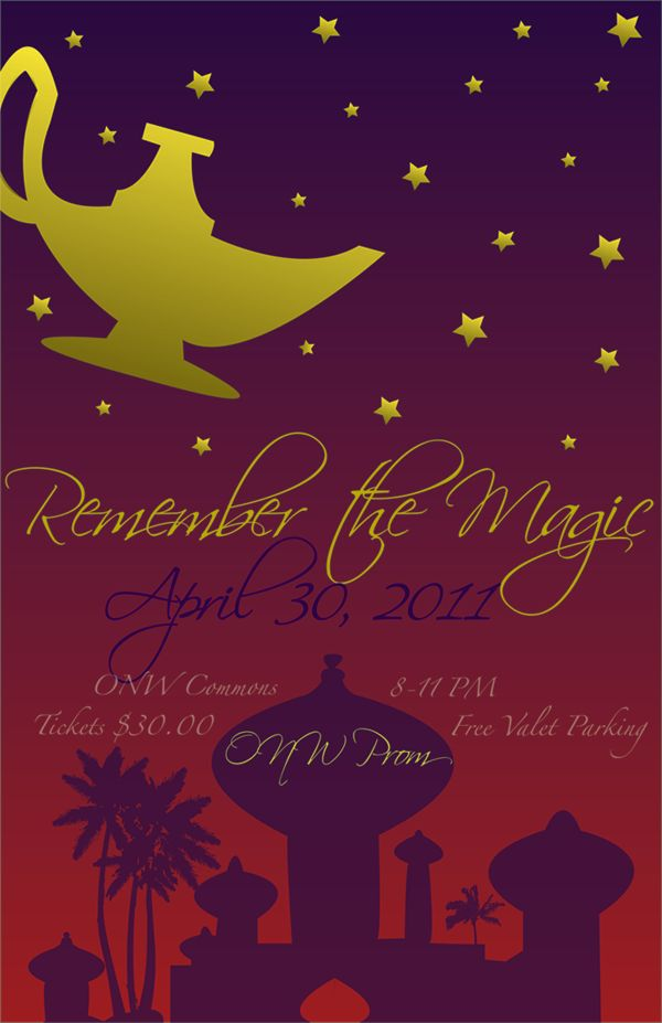 This is a cute name for the prom itself, but I don't like the invite. Change the layout and colors and you're golden.
