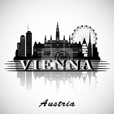 Välj en fototapet från kategorin wien, österrike, Horisont - modern vienna city skyline design - austria. PIXERS fototapeter gjorda av fantastiska tryckmaterial. Välj  artistiska foton från vår katalog.