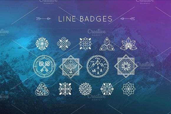 Line Badges by venimo on @creativemarket