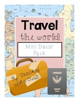 """This travel themed mini classroom decor pack includes:-student tags {can be used for cubbies, door, bulletin boards, etc.}-a banner that says """"Destination:  success""""-a where we are sign to post outside the classroomI also sell this product in Spanish:  here is a link to the Spanish version!Please email me at linsayhumphrey@yahoo.com with questions or suggestions."""