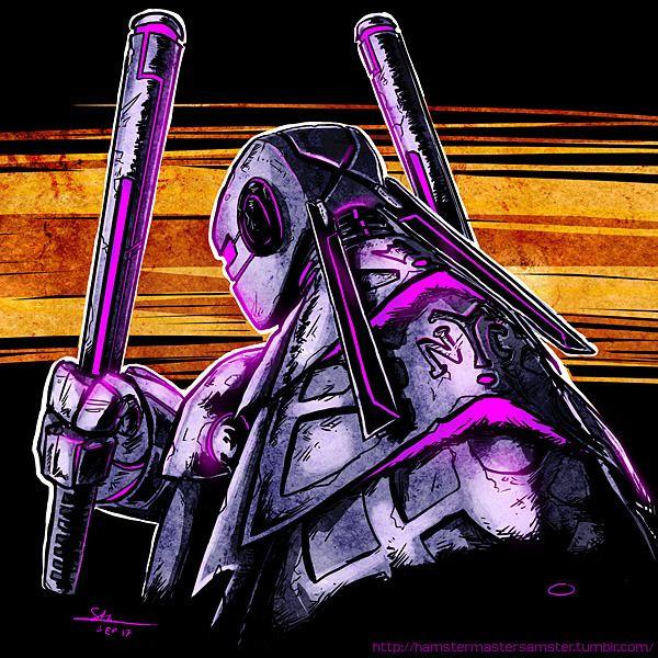 Esse é o nosso Donatello do último episódio das Tartarugas Ninjas. Sim.A série acabou... Podem assistir em inglês se quiserem,é só ir no Redworld96.