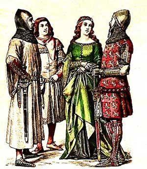 Романский стиль основные формы мужского и женского костюма