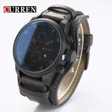 Principais Homens de Relógios de Luxo Da Marca Curren Casual Auto Data Homens Relógio De Quartzo De Couro Genuíno Relógio Masculino relogio masculino reloj hombre(China (Mainland))