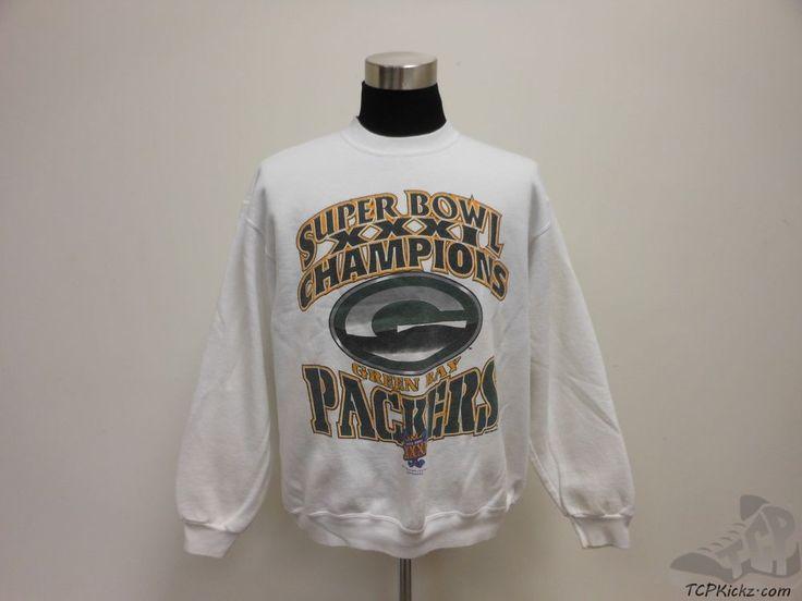 Vtg 90s Oneita Green Bay Packers Crewneck Sweatshirt sz XL Extra Large NFL NFC #Oneita #GreenBayPackers #tcpkickz