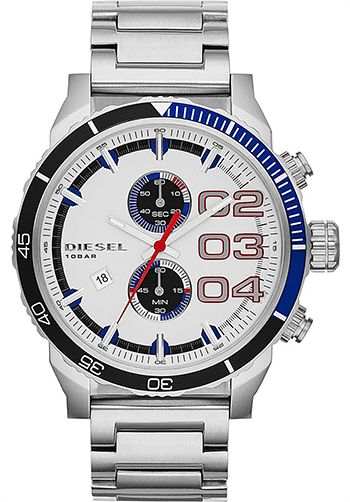 Montre Diesel DZ4313 Homme - Quartz - Chronographe - Cadran et Bracelet en Acier inoxydable Argent - Date