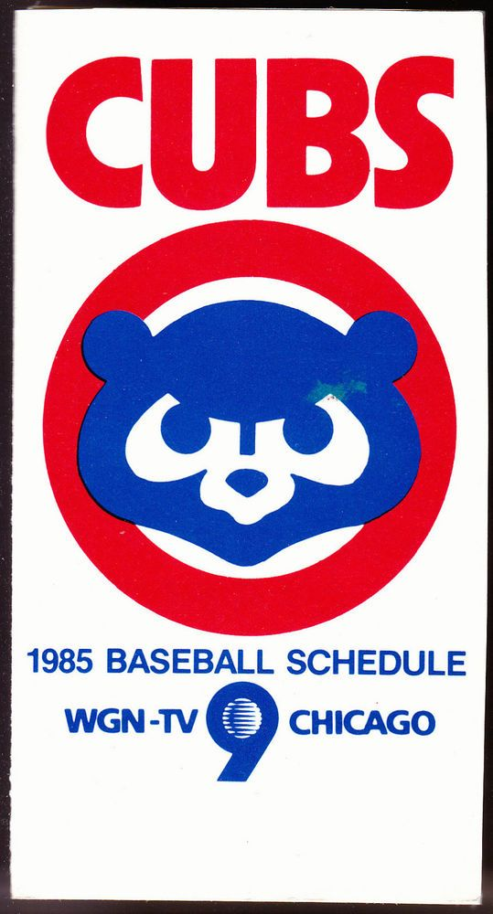 1985 CHICAGO CUBS WGN EDWARD HINES LUMBER BASEBALL SCHEDULE FREE SHIPPING