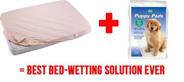 And finally...this solution will SAVE YOUR LIFE (and your beds) during the potty-training phase.