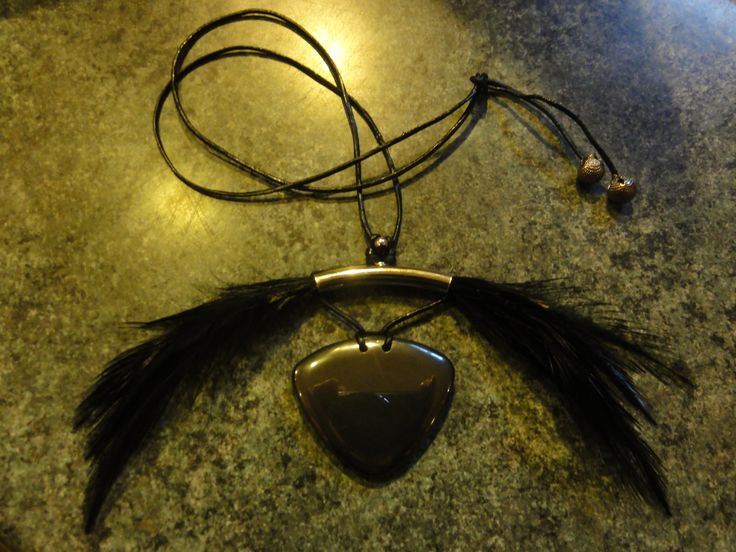 hematite and feather