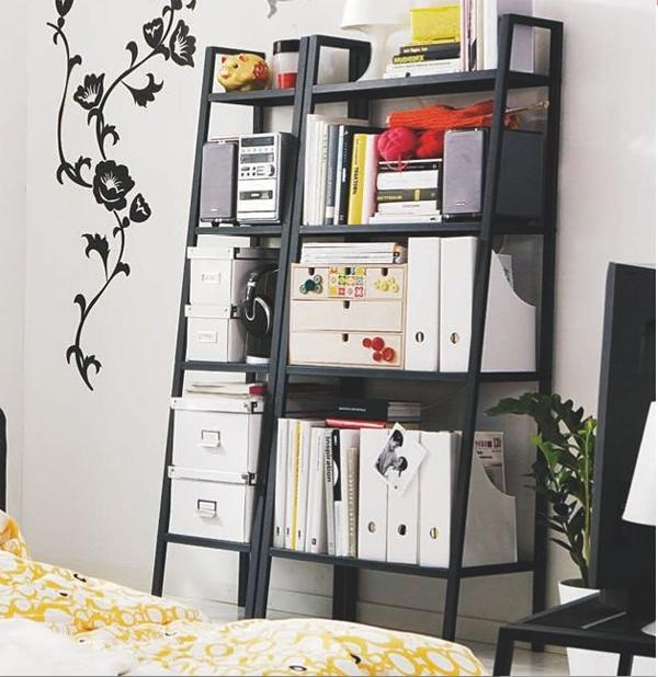 ikea lerberg shelf in white for office supplies