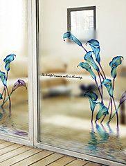 Floral+Moderno+Adhesivo+para+Ventana,PVC/Vinilo+Material+decoración+de+la+ventana+–+EUR+€+18.98