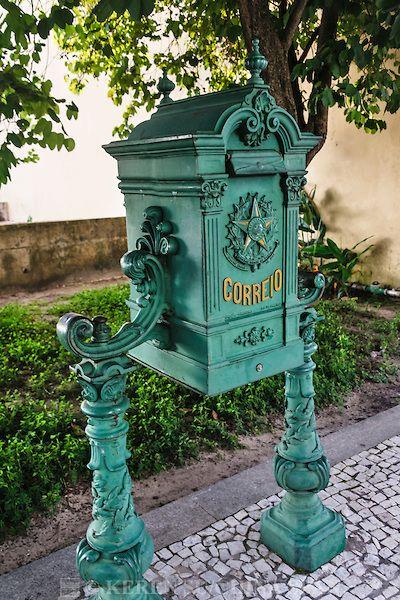 Antique mailbox in Belém, Pará, Brazil