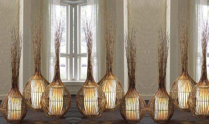 Lampade carta di riso e bambù
