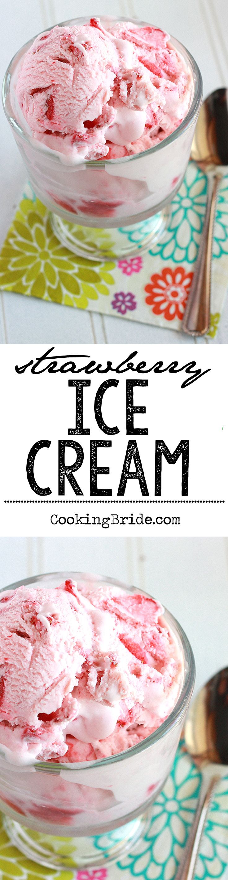 Easy frozen strawberry ice cream recipe