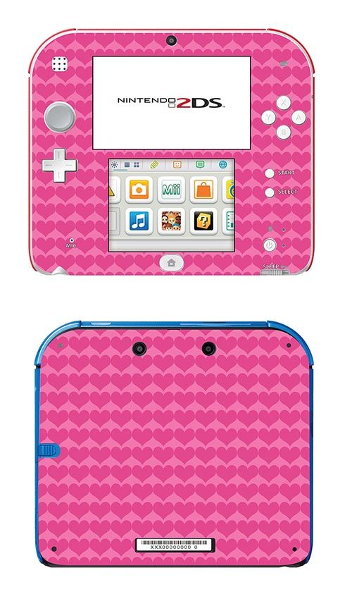 SKIN NINTENDO 2DS - PINK HEARTS