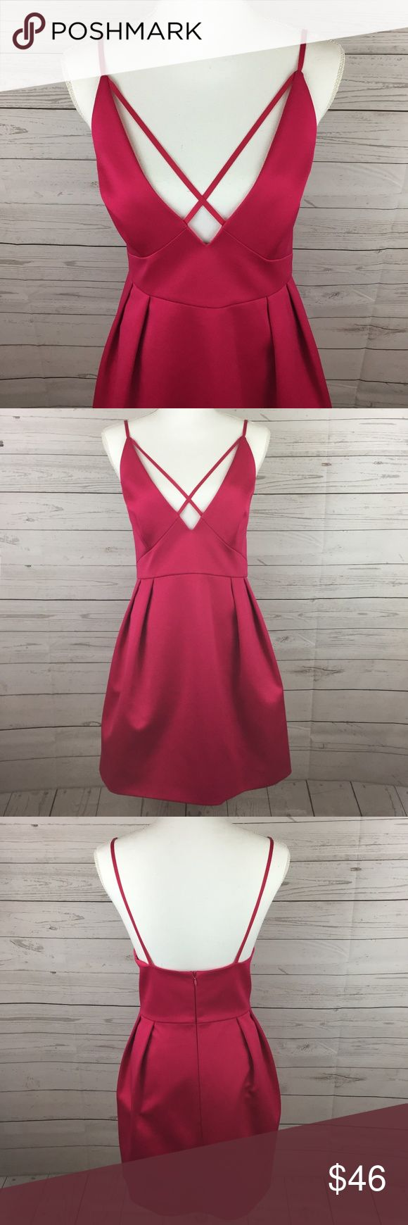 """TOPSHOP Sexy Low Cut Cross Front Dress SZ 10 Size: 10 Bust: 16"""" Waist: """" empire waist Hips: 22"""" Length: 34""""  Condition: New with Tags- Smoke/Pet Free How I Roll: No Trades/ No offsite Monkey Business/ I Love Bundles & Offers/ Please Ask Questions if you have them!   Can Be Worn With: Sky high heels!  Don't forget your on-trend accessories- Check out our jewelry pieces to complete your look! *All measurements taken while item is laid flat and across the front.  #SR- 170917 Topshop Dresses"""