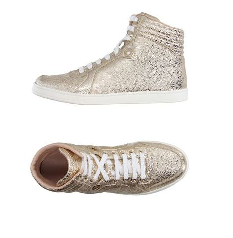 Gucci shoes, sneakers, gold sneakers, gold shoes.
