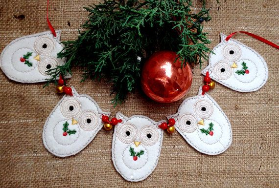OWL TREE GARLAND   Machine embroidery designs