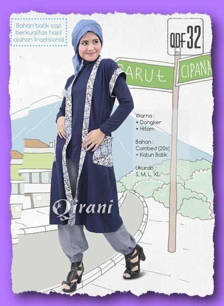 Qirani Fresh  QDF 32 Dongker  Model :  QDF 32 Dongker  Qirani Fresh  QDF 32 Dongker  Harga : Rp. 220.000  Size : S, M, L, XL  Warna :  Hitam & Dongker Bahan : Combed (20s) + Katun Batik
