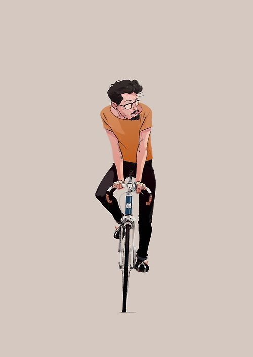 Fixie Illustration.