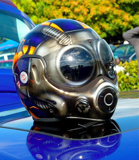 Custom painted helmet, great work!    www.allsporthelmets.com  - sport helmets for men women and children
