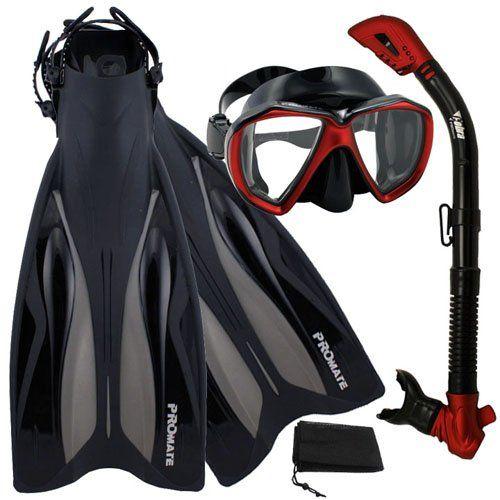 PROMATE Deluxe Snorkeling Gear Scuba Diving Fins Mask Dry Snorkel Set, RedBlack, MLXL Promate http://www.amazon.com/dp/B005GRGOI4/ref=cm_sw_r_pi_dp_LBE6wb0SJKZNV
