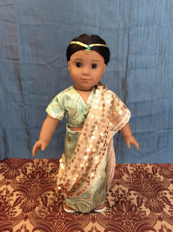 0551a79a452 Sari outfit made for an 18 inch doll like American girl and the like ...