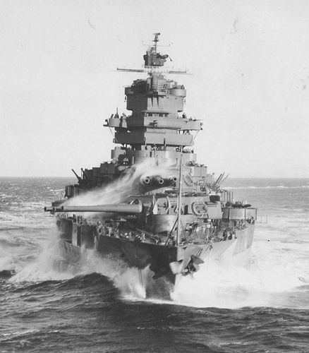 The World War II battleship, USS Idaho (BB 42)