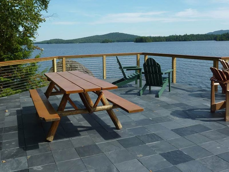 Create An Elegant Slate Patio In Just Minutes With EzyTile Interlocking  Slate Deck Tiles