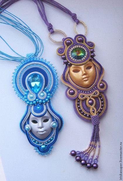 "Soutache necklace / Кулоны, подвески ручной работы. кулон ""Венеция"". Сидина…"