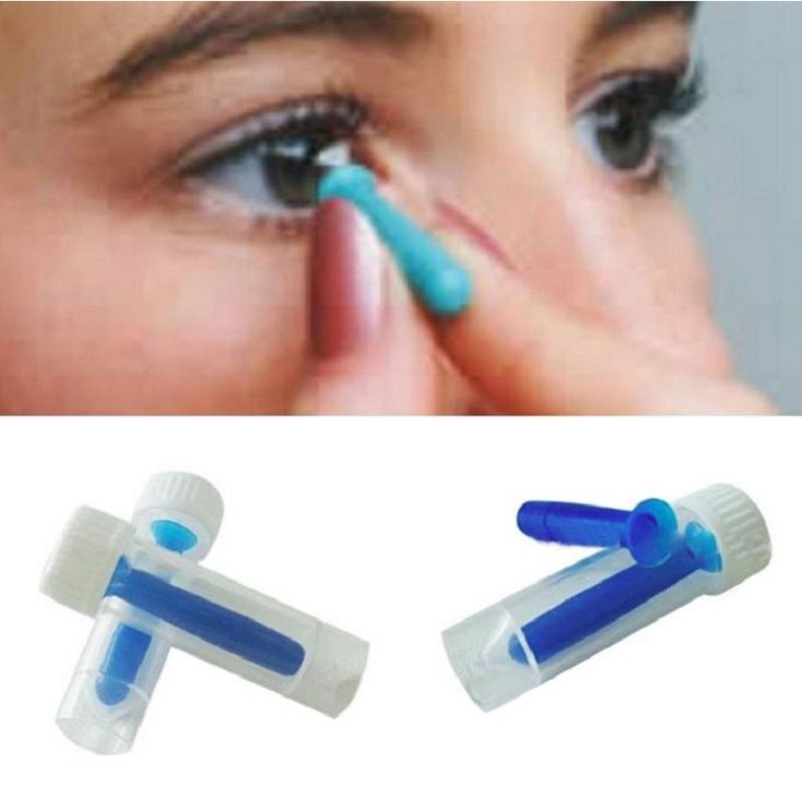 Check out these handy Inserter Removers for hard / rgp and soft contact lenses. The Solid Inserter can both be used with soft lenses and hard lenses. Simply rest the lens on the end of the inserter and insert the lens into your eye. | eBay!