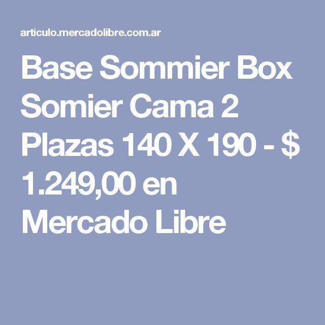 Base Sommier Box Somier Cama 2 Plazas 140 X 190 - $ 1.249,00 en Mercado Libre