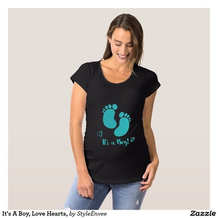 It's A Boy, Love Hearts, Maternity T-Shirt